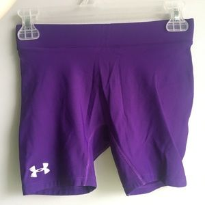 Purple under armour shorts